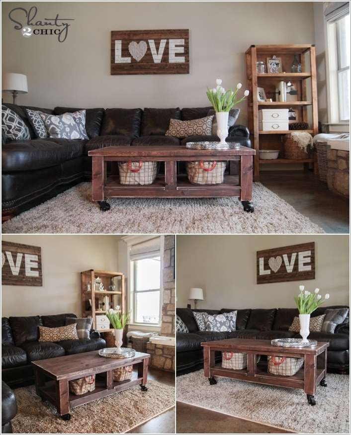 4  15 Awesome DIY Coffee Table Ideas for Your Living Room 43