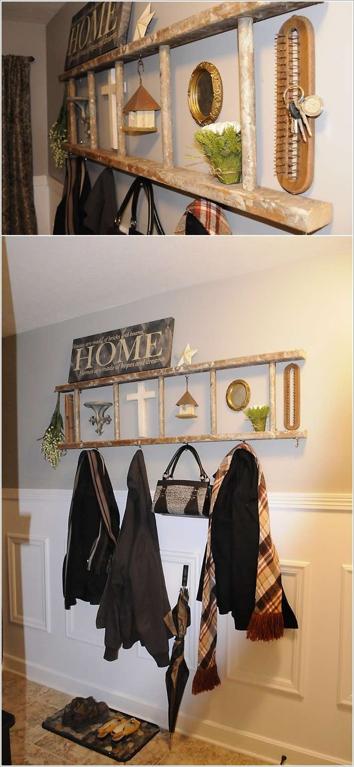 6  10 Awesome Ideas to Organize with Ladders 615