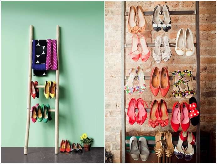 8  10 Awesome Ideas to Organize with Ladders 815
