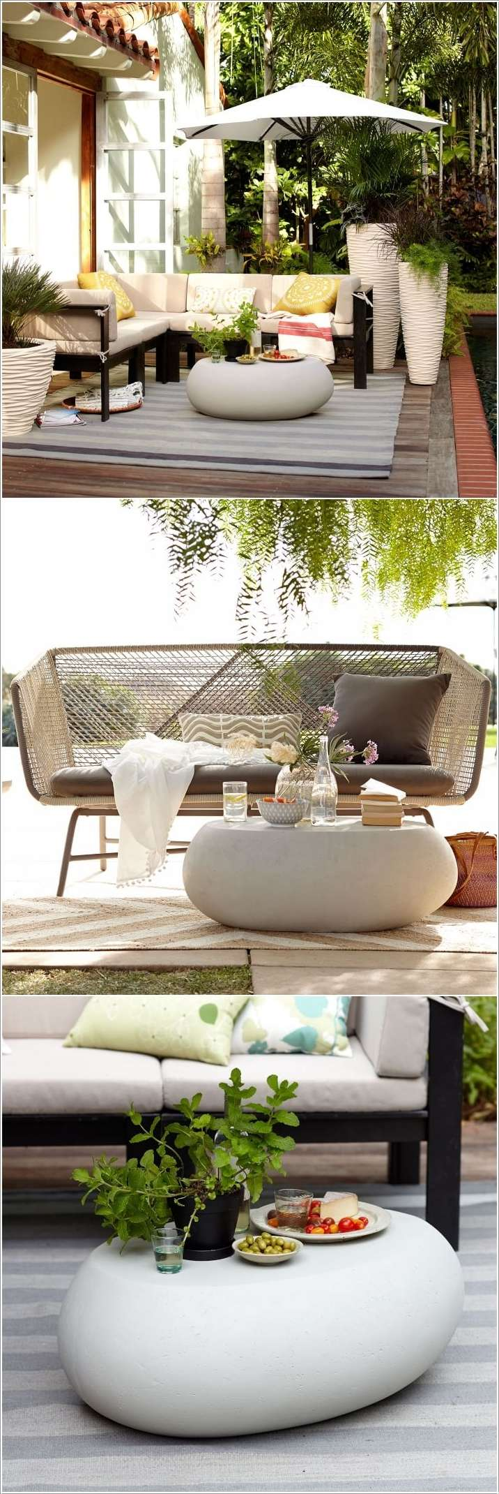 Awesome Outdoor Coffee Table Designs For Your Home - West elm pebble coffee table