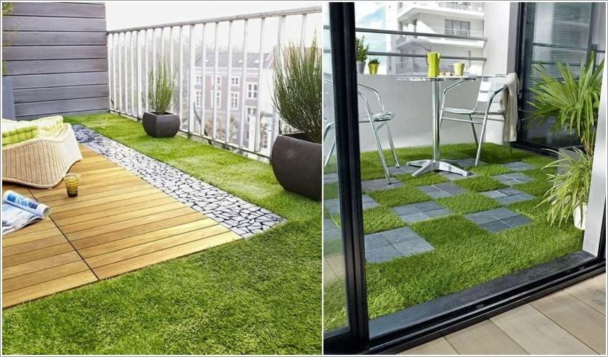 10 fabulous and chic balcony floor ideas fun corner for Apartment balcony floor covering