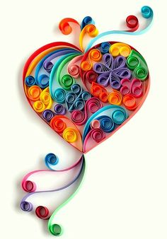 Colorful Heart & Letters