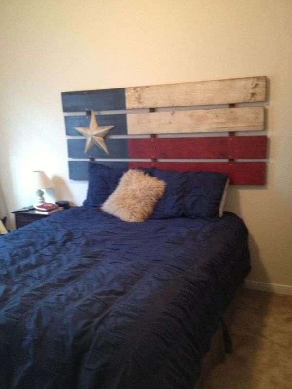 Flag Pallet Headboard