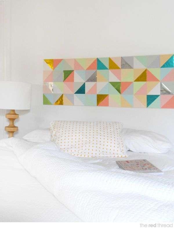 Geometric Artwork Headboard