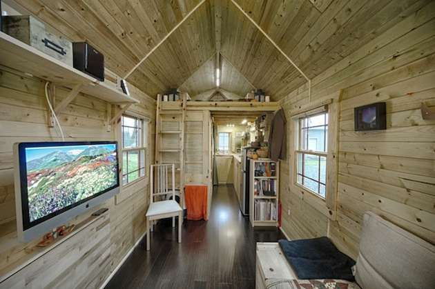 Hand built tiny tack house