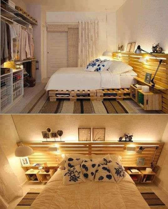 Light Oak Pallet Bed