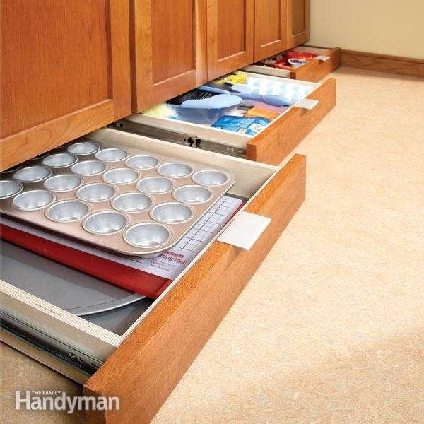 Maximize the kitchen space by using undercavinet storage