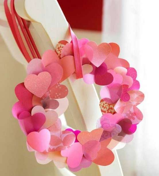 Paper Hearts Valentine's Wreath