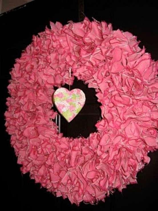 Pink Valentine's Wreath