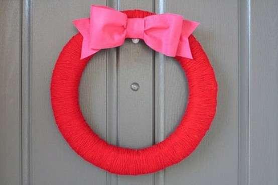 Pink an Red Valentine's Wreath
