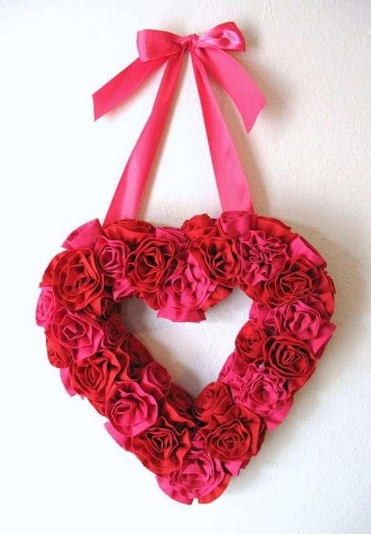 Red Rose Valentine's Wreath