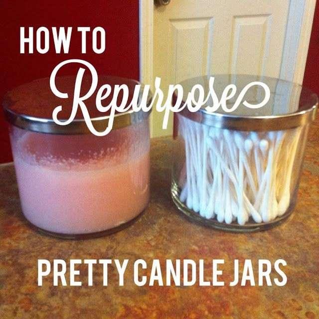 Repurpose Pretty Candle Jars f