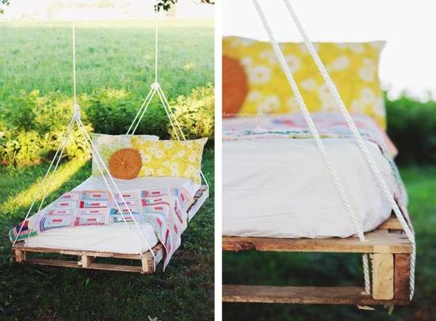 Repurposed Swing Bed