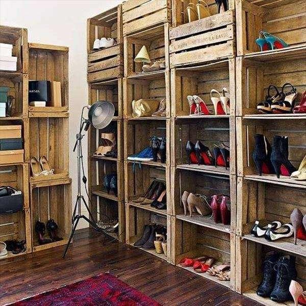 Repurposed Wood Shoe Cabinet