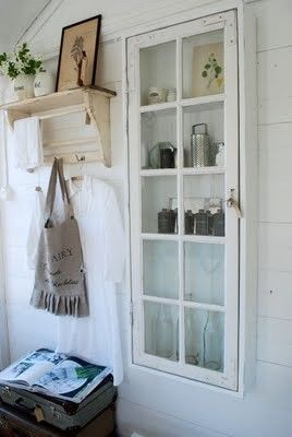 Upcycled Old Window Storage