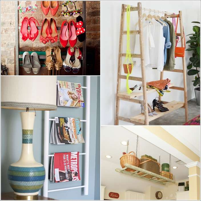 a  10 Awesome Ideas to Organize with Ladders a17