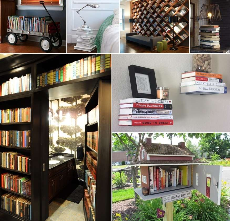 37 Awesome Ideas To Decorate Your Home With Books