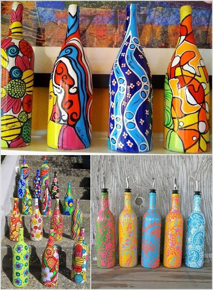 Decorate A Bottle Captivating 15 Amazing Wine Bottle Crafts To Decorate Your Home  Interior Design Inspiration
