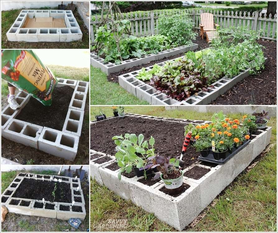 Concrete Block Garden Bed: These Cinder Block Raised Garden Beds Are Just Fabulous