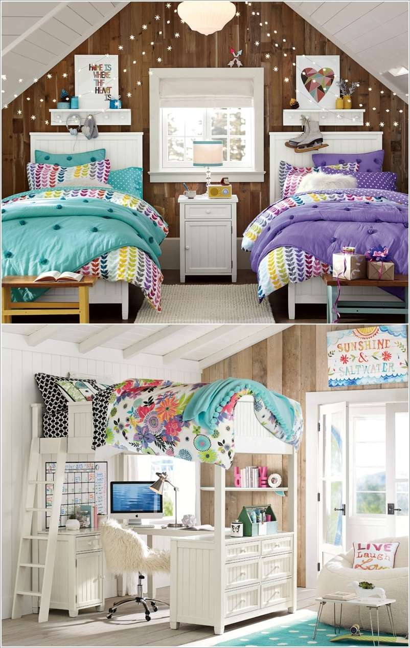 lovely teen lounge room ideas | 15 Lovely Teenage Bedroom Wall Decor Ideas