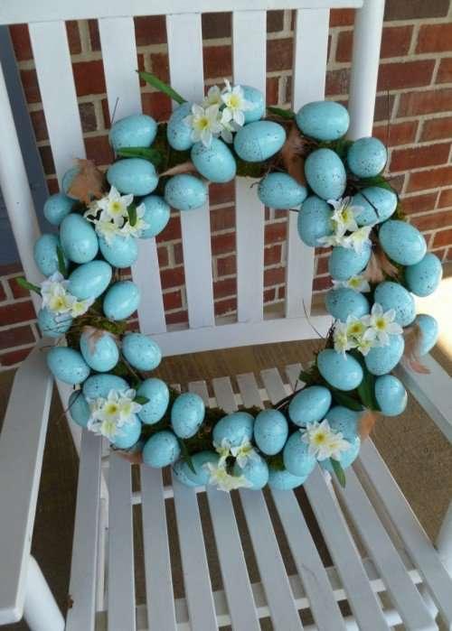 Blue Eggs Easter Wreath