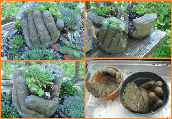 15 creative low budget diy garden planters concrete garden hands workwithnaturefo