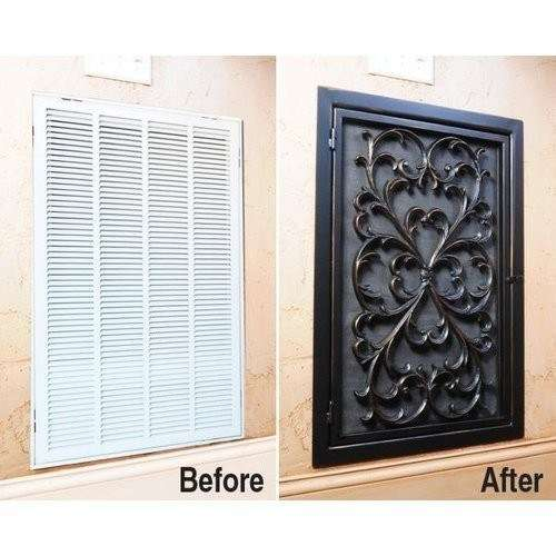 Cover up an unsightly air vent with a rubber doormat
