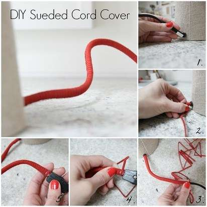 Cover your unsightly cords with suede cording