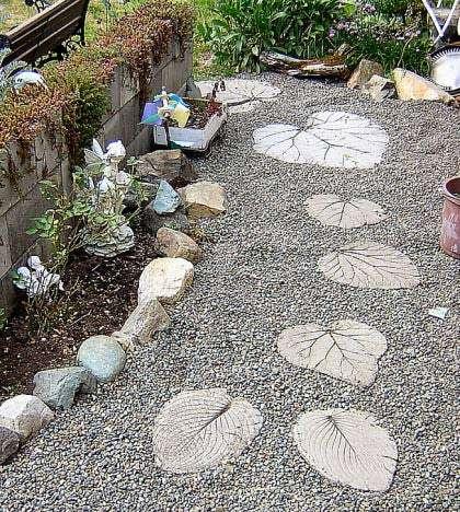 DIY garden footpath