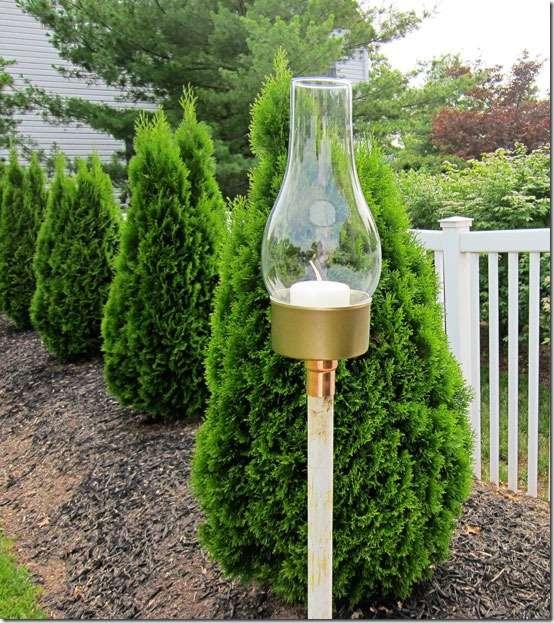 DIY garden lantern