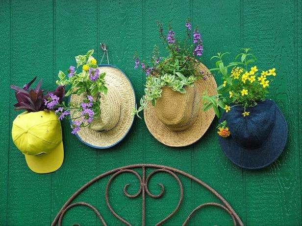 Fancy Old Hats Planters