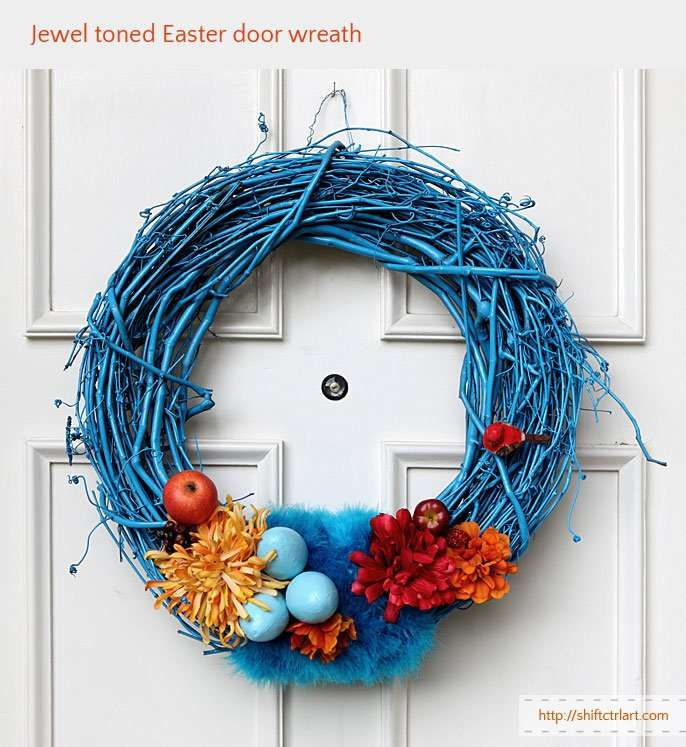 Jewel Toned Easter Wreath