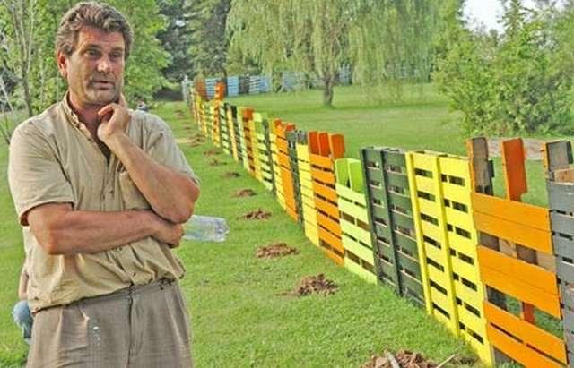 Lively Pallet Fence