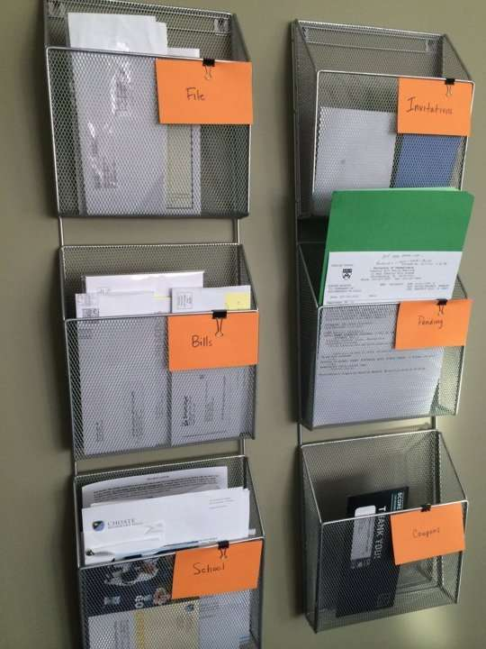 Organize coupons, cards, letters and more.