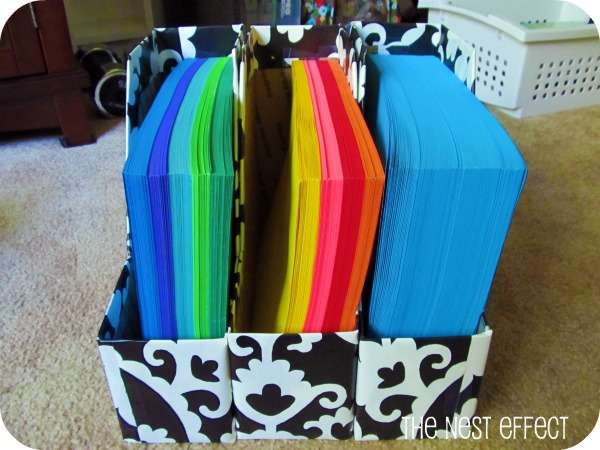 Organize special papers, tissues and gift bags