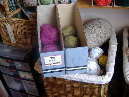 Organize your yarn.