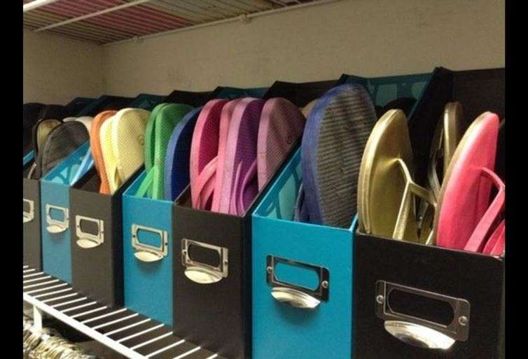 Organizeflip-flops.
