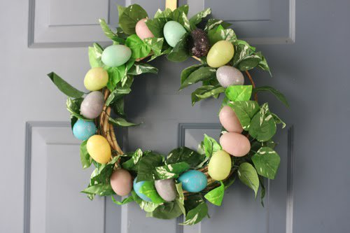 Pastel Eggs Easter Wreath