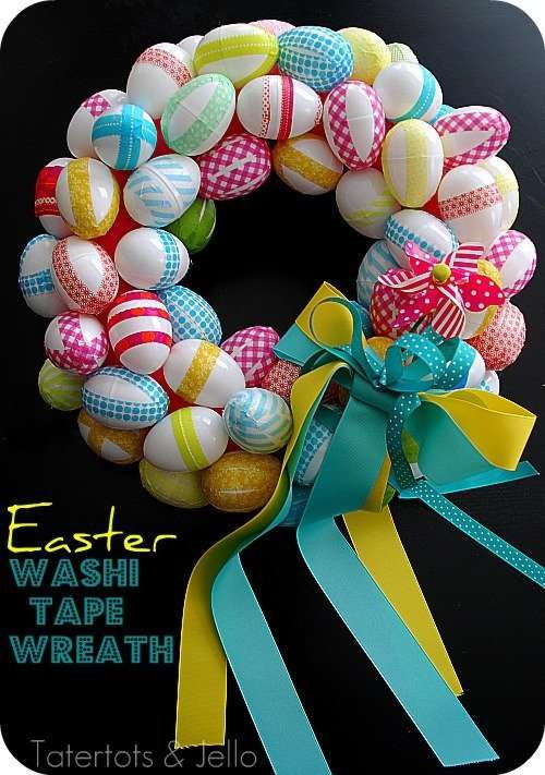Washi Tape Easter Wreath