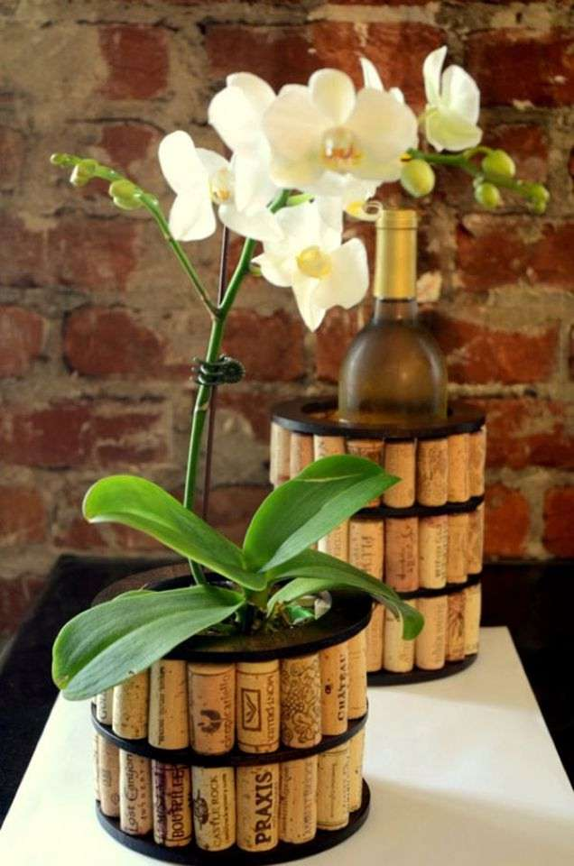 Wine cork coolers and planters