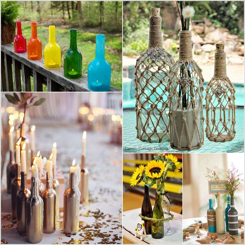 Decorate A Bottle: 15 Amazing Wine Bottle Crafts To Decorate Your Home With