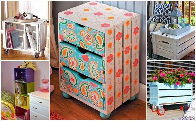 15 painted wooden crate projects that are just amazing for Painted crate ideas