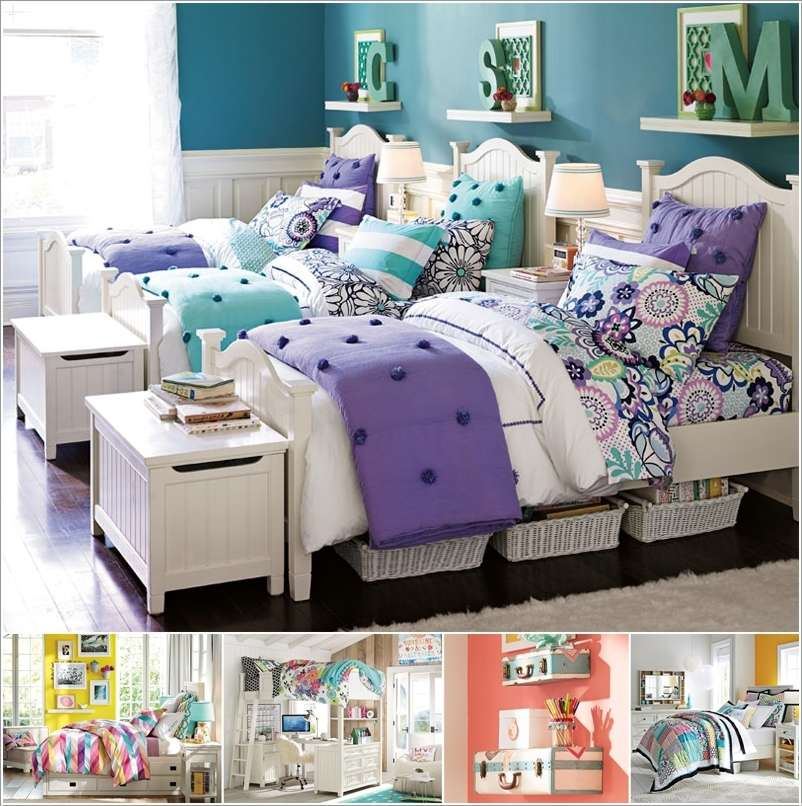15 lovely teenage bedroom wall decor ideas Teenage bedroom wall designs