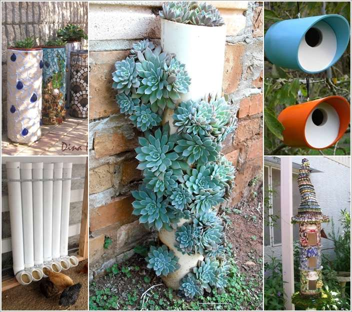10 pvc pipe projects for your home s outdoor interior for Pvc pipe garden projects