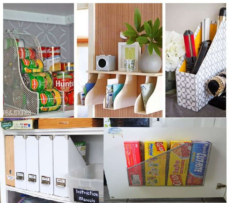 15 creative ways to organize your home with magazine holders Organizing your home