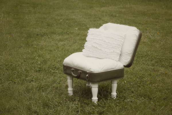 comfy child's chair from an old suitcase.