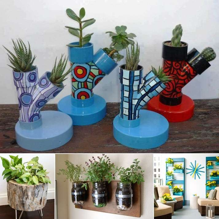 10 amazing diy indoor planter ideas to try for Diy flower pot designs