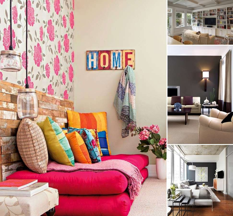 5 Amazing Interior Landscaping Ideas To Liven Up Your Home: 15 Classy Ideas To Spice Up Your Living Room Wall
