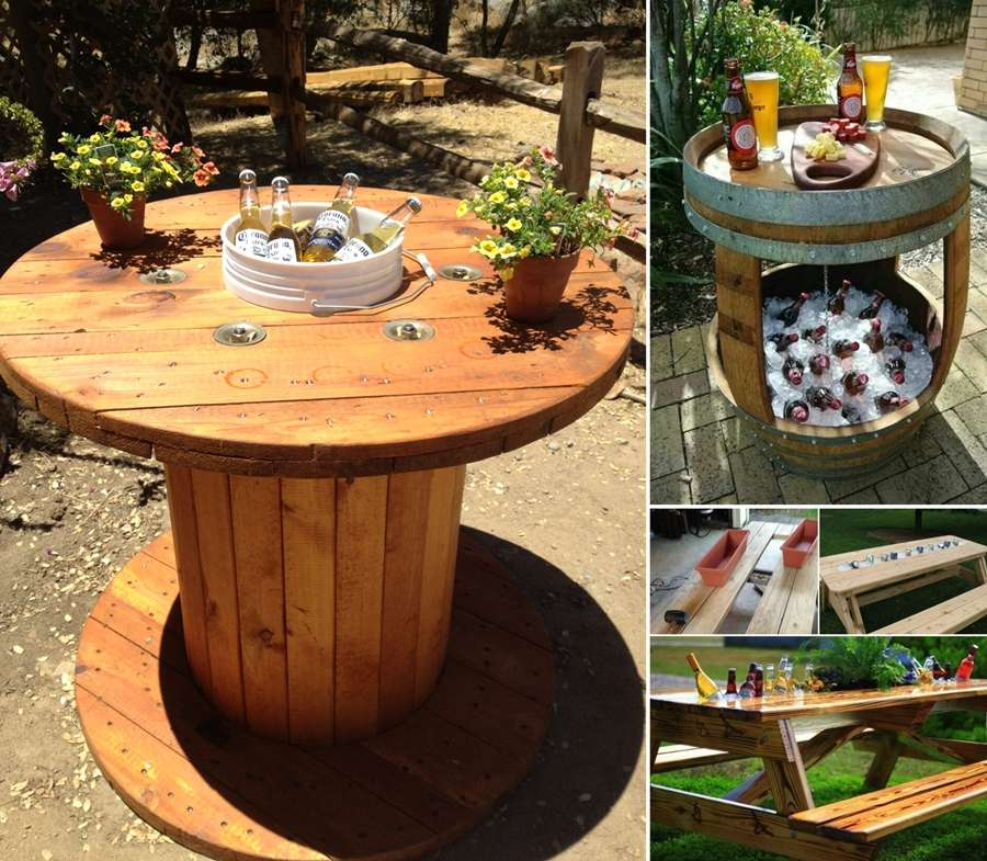 15 Awesome Cooler Table Designs Perfect for Summer Parties