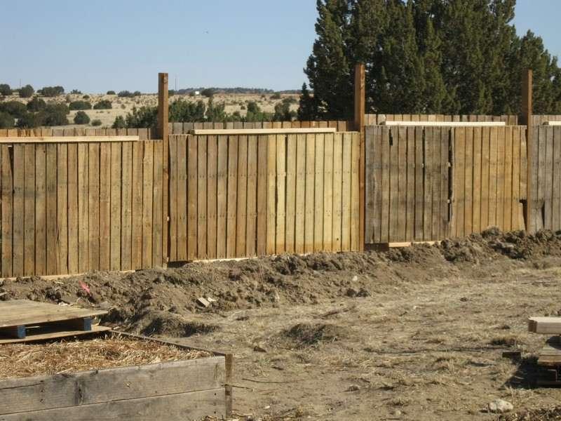 pallet fence in the garden
